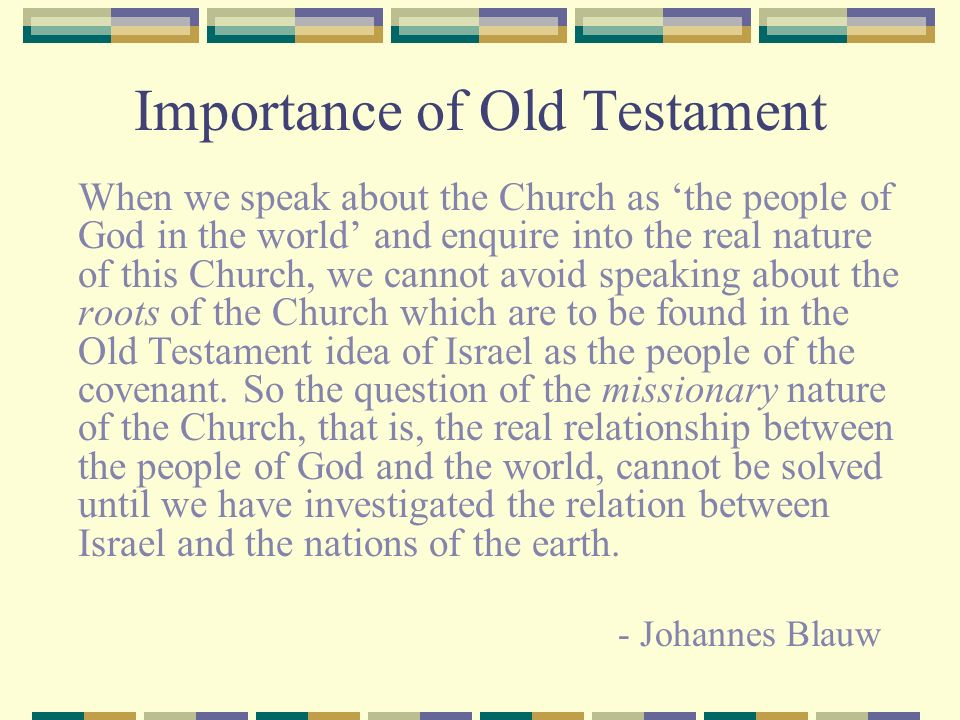 Importance of Old Testament