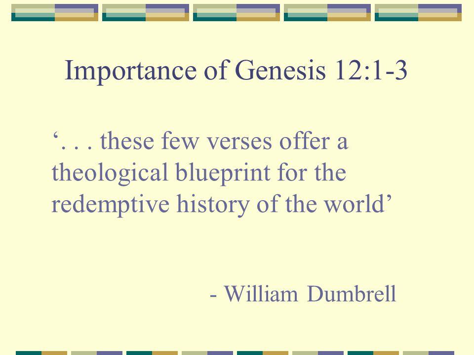 Importance of Genesis 12:1-3