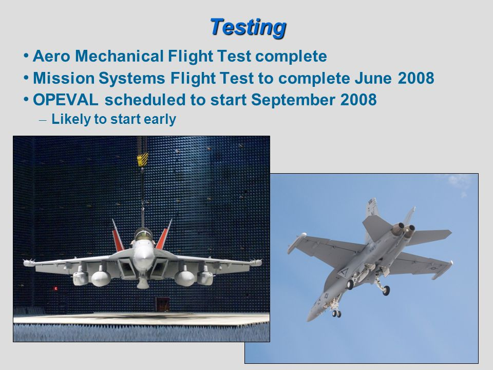 Testing Aero Mechanical Flight Test complete