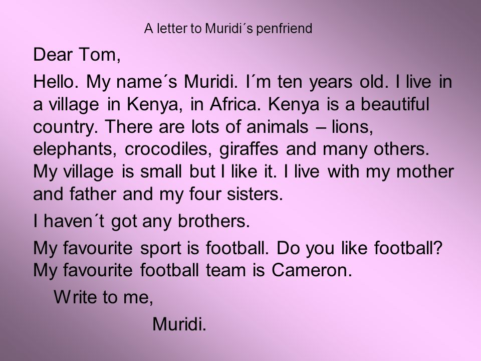 A letter to kims penfriend ppt download 3 a letter to muridis penfriend thecheapjerseys Gallery