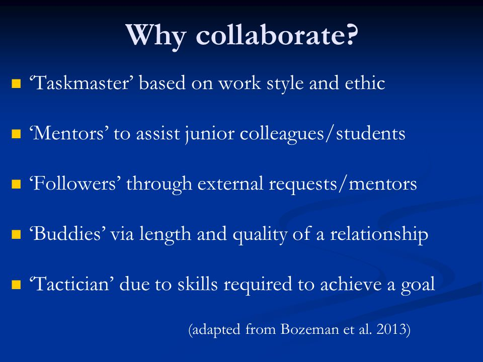 Why collaborate 'Taskmaster' based on work style and ethic