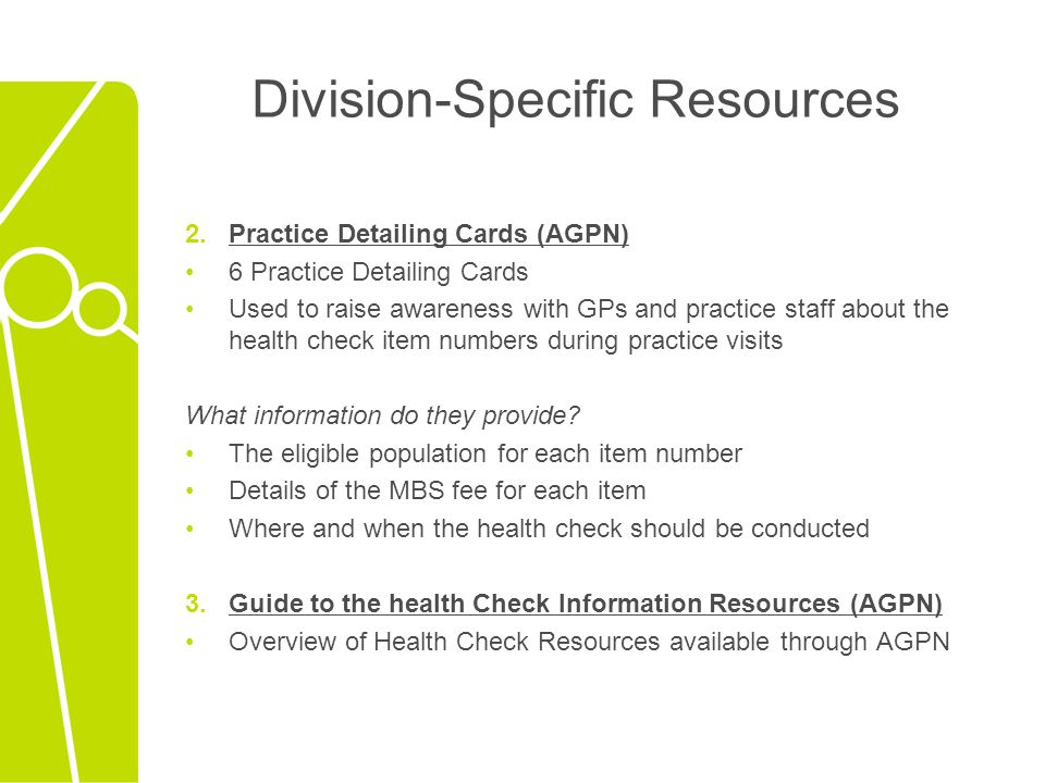 Division-Specific Resources