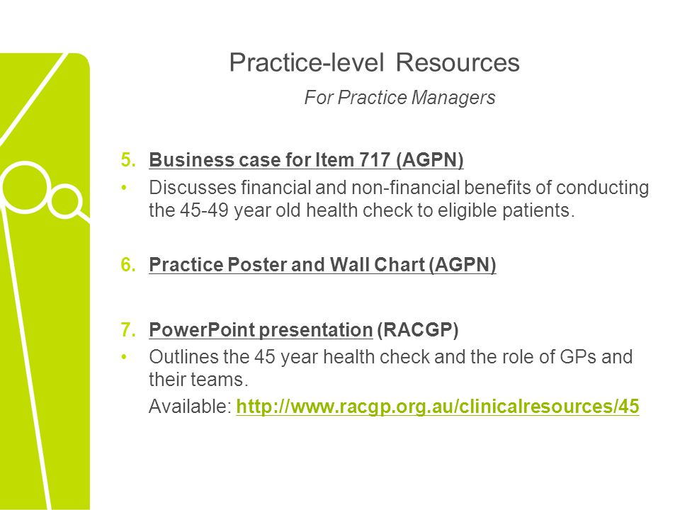 Practice-level Resources For Practice Managers