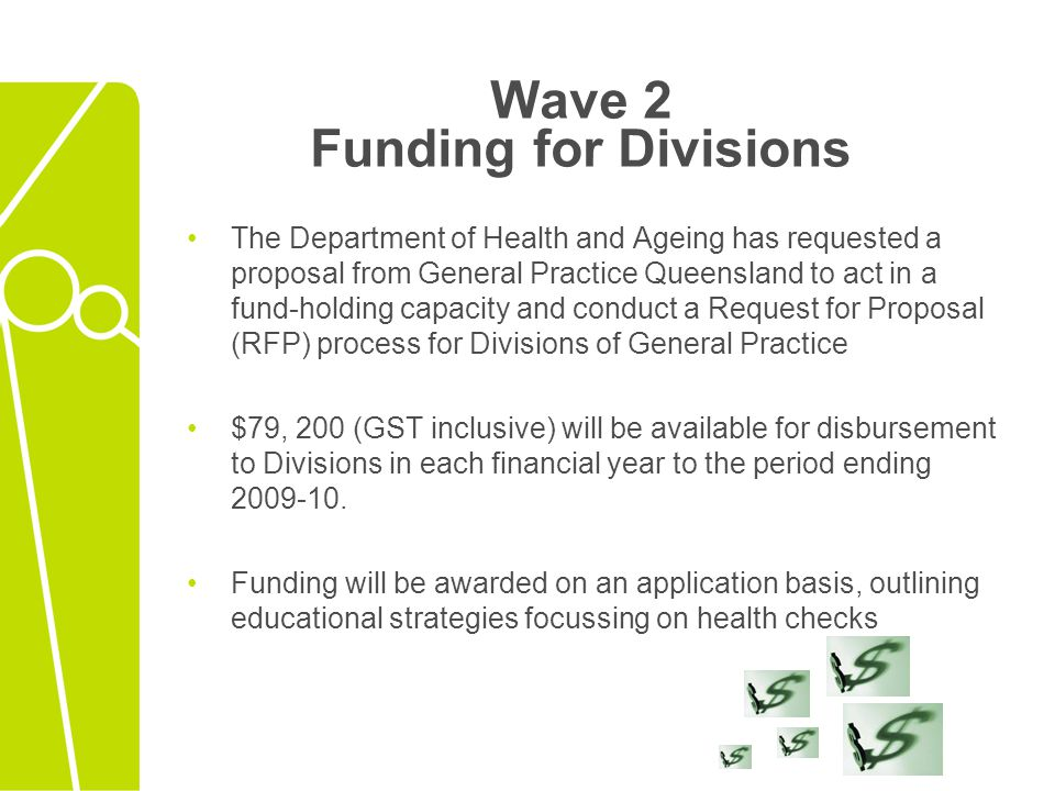 Wave 2 Funding for Divisions