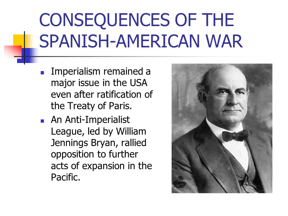 CONSEQUENCES OF THE SPANISH-AMERICAN WAR
