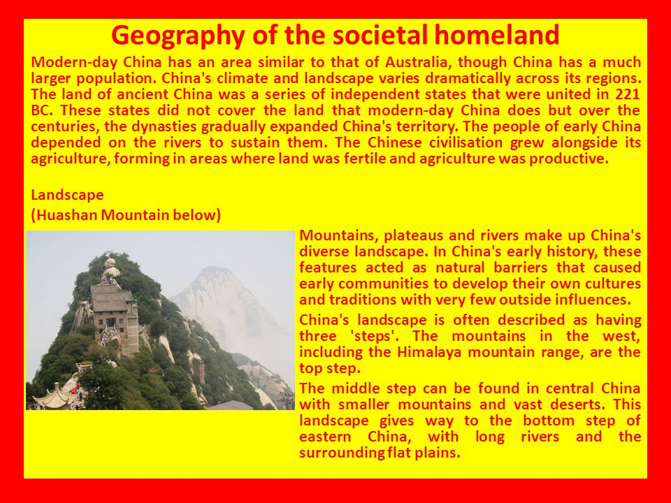 Geography of the societal homeland