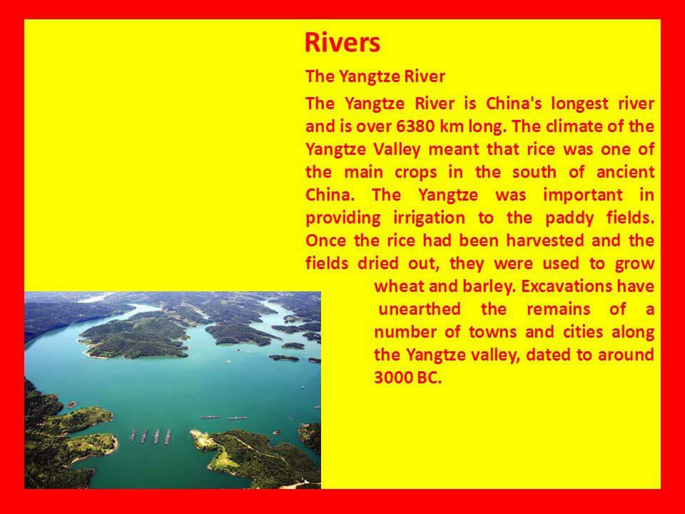 Rivers The Yangtze River