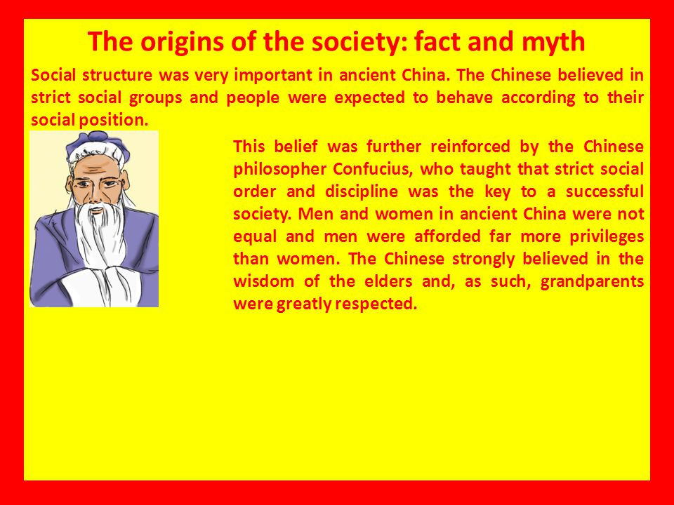 The origins of the society: fact and myth