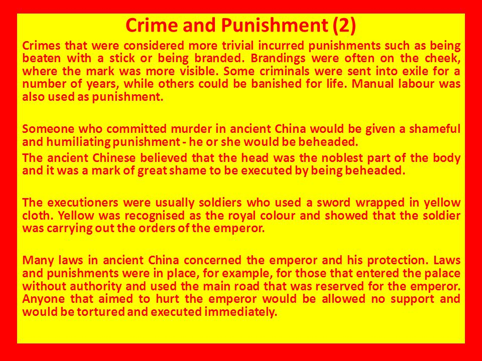 Crime and Punishment (2)