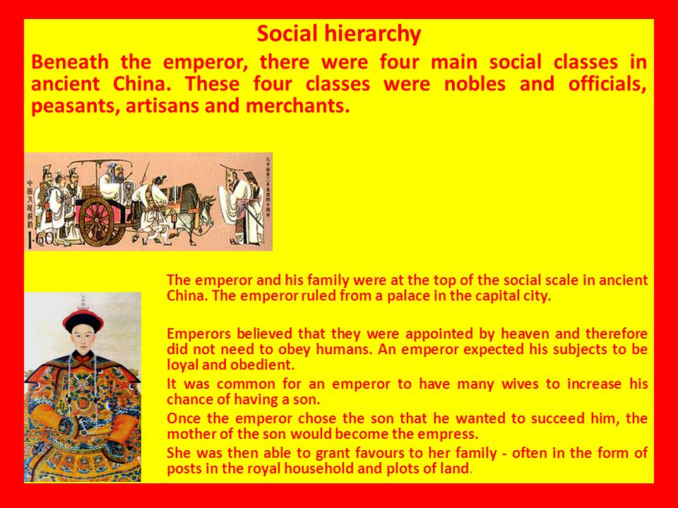 Social hierarchy Imperial family