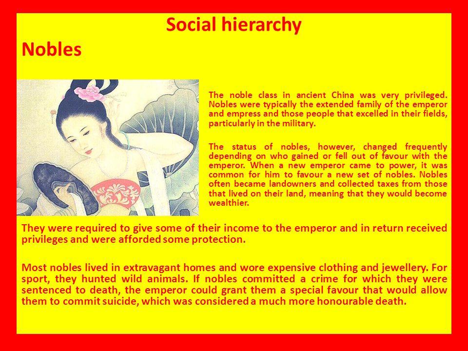 Social hierarchy Nobles
