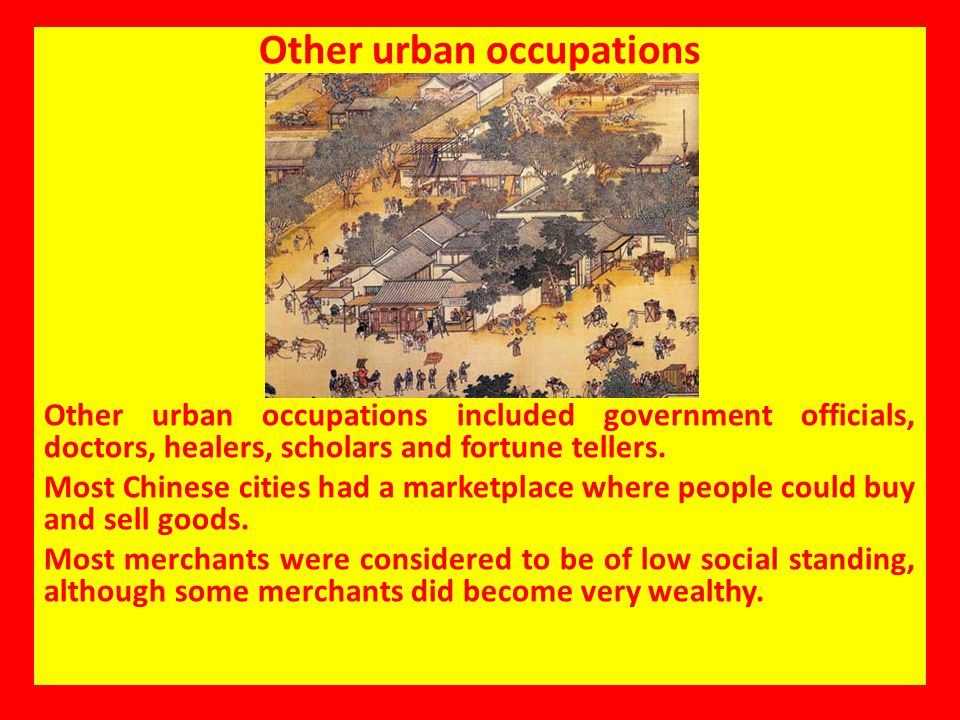 Other urban occupations