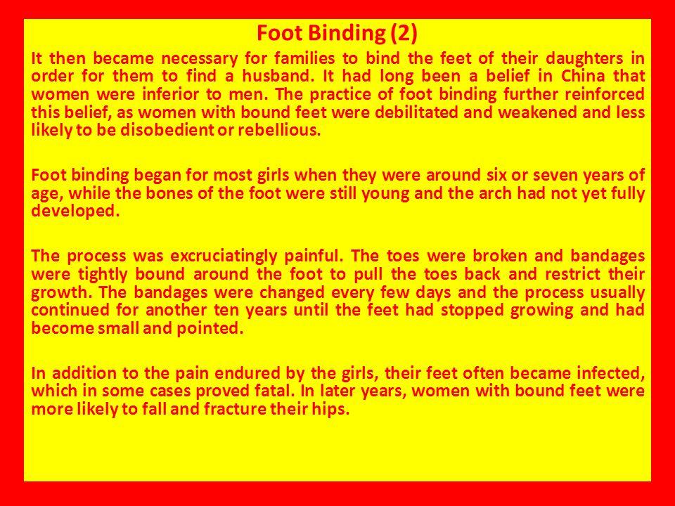 Foot Binding (2)