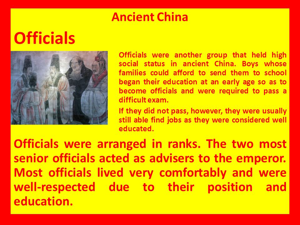 Officials Ancient China