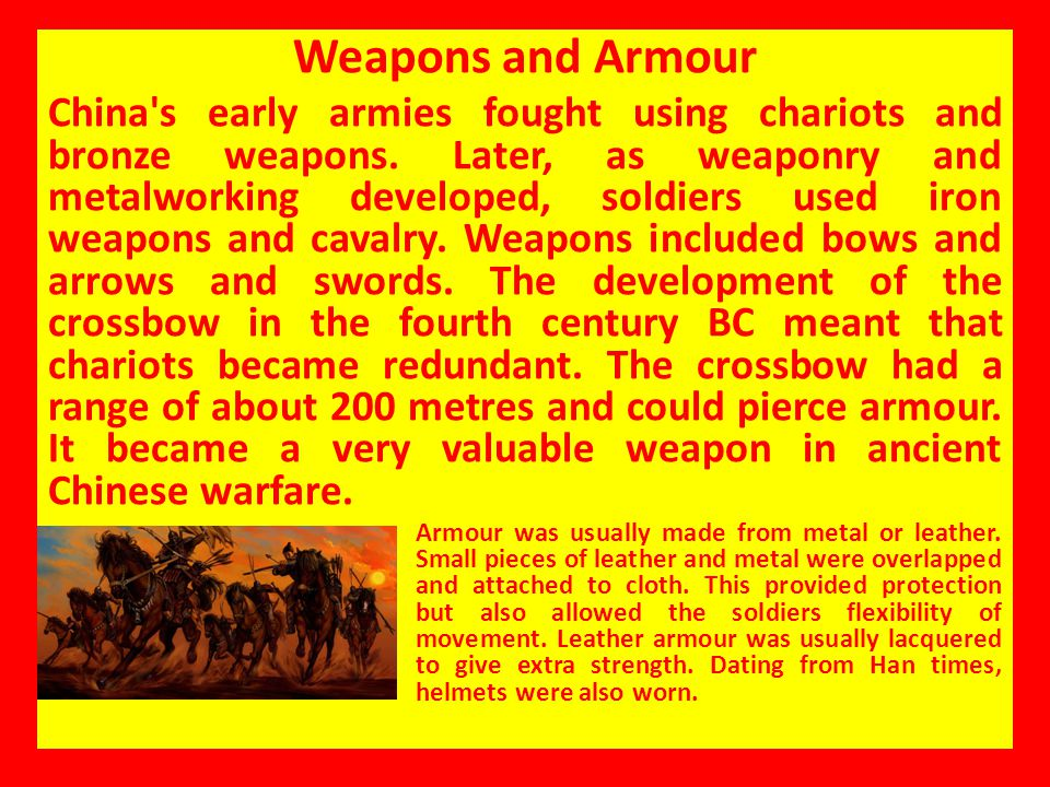 Weapons and Armour