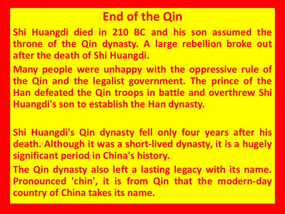 End of the Qin