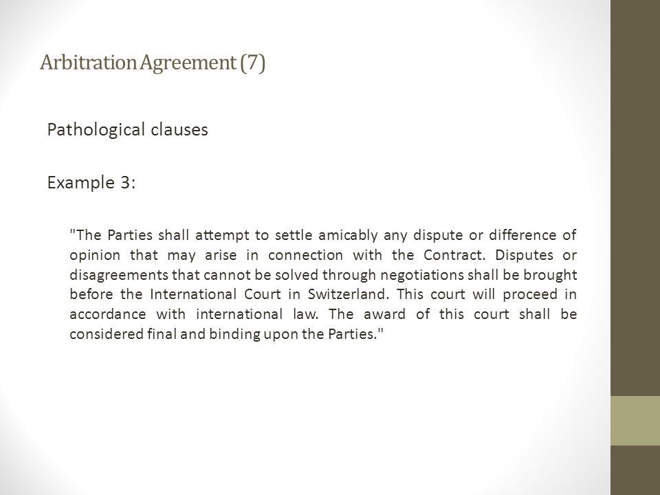 Arbitration Agreement (7)