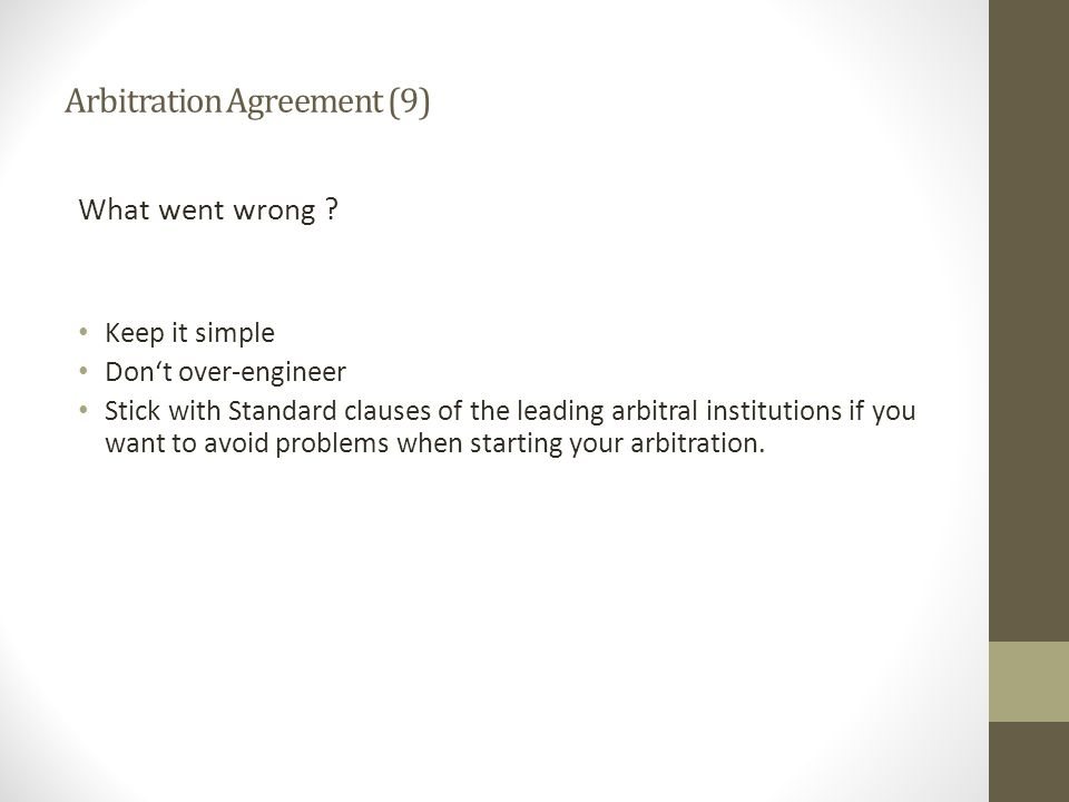 Arbitration Agreement (9)