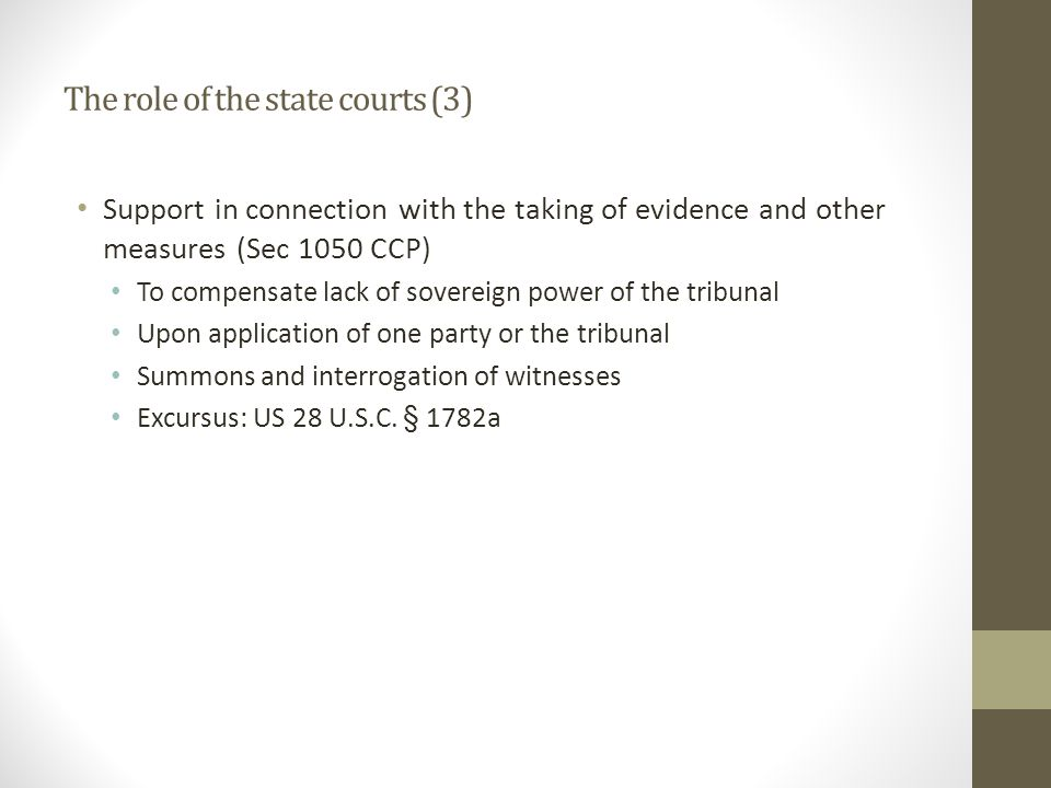 The role of the state courts (3)