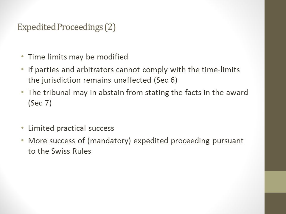 Expedited Proceedings (2)