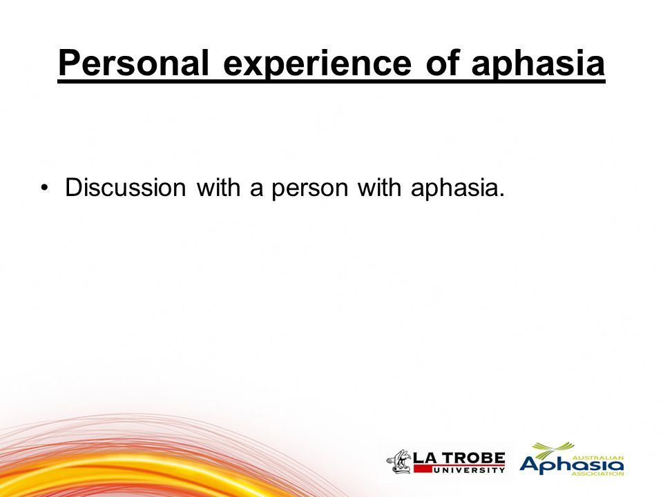 Personal experience of aphasia