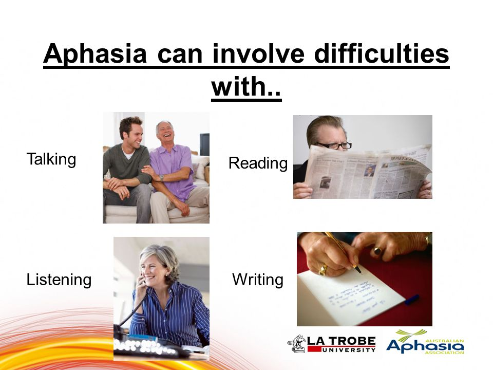 Aphasia can involve difficulties with..