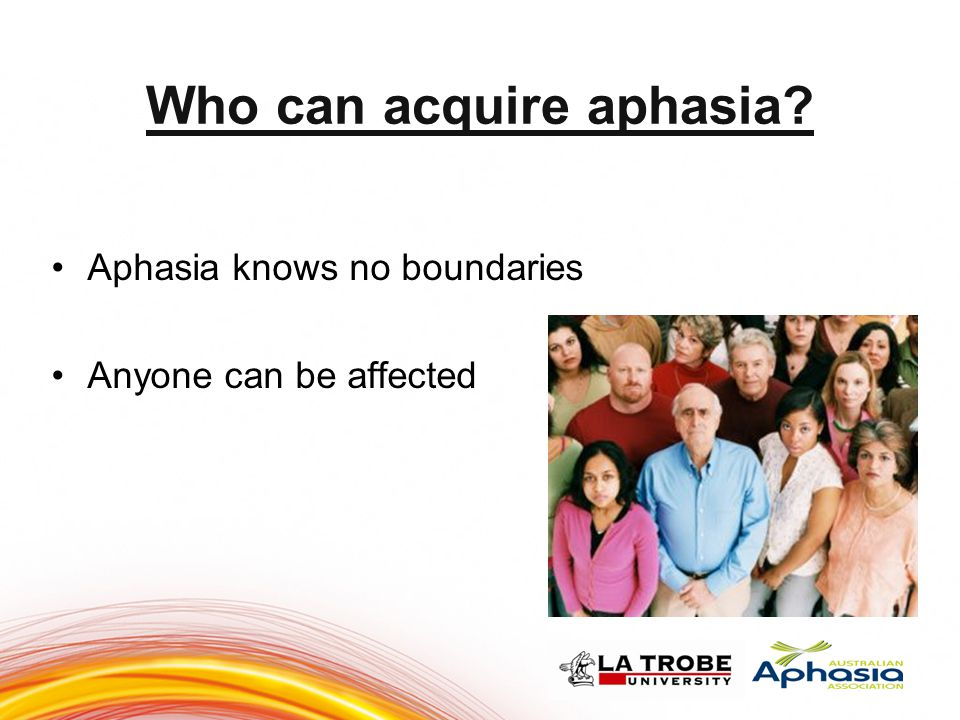 Who can acquire aphasia