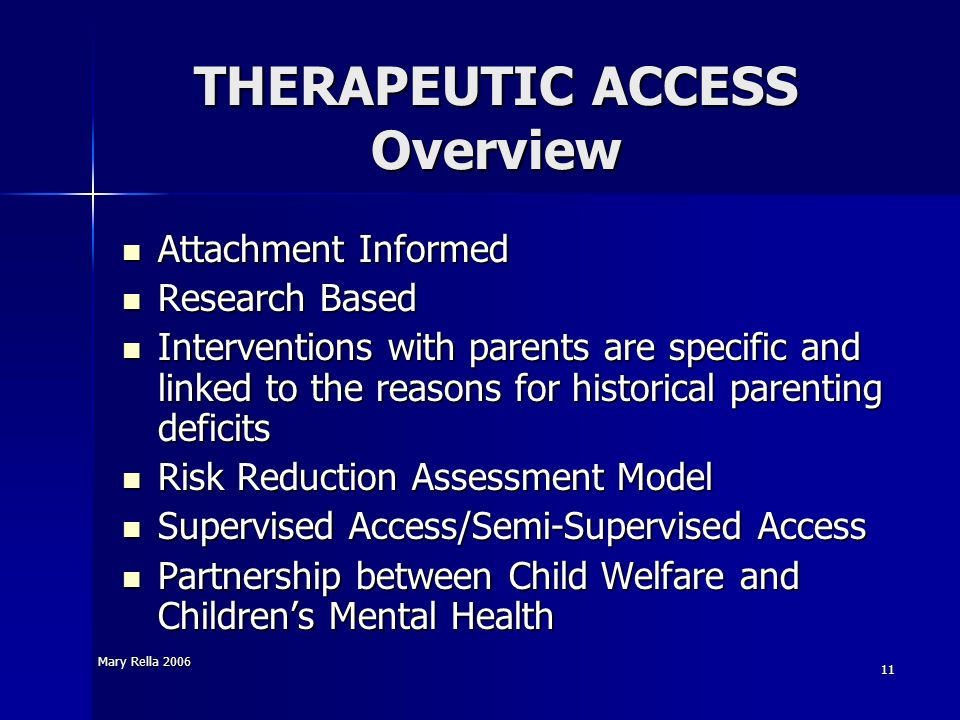 THERAPEUTIC ACCESS Overview
