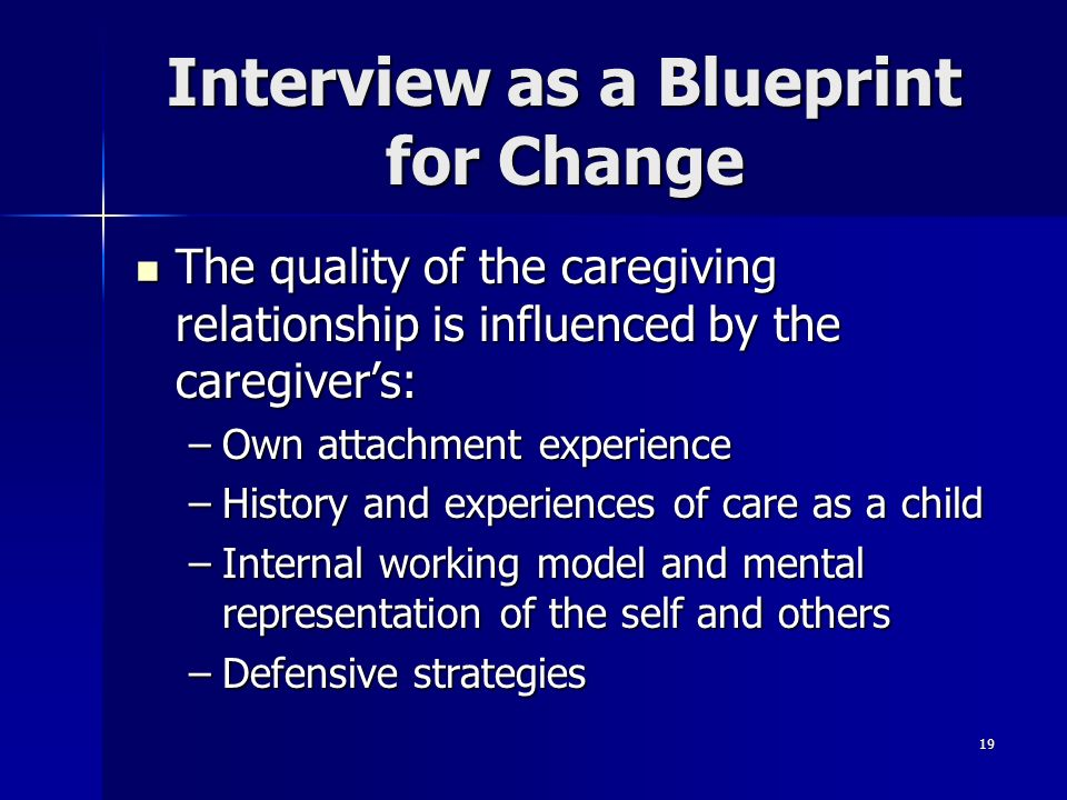 Interview as a Blueprint for Change