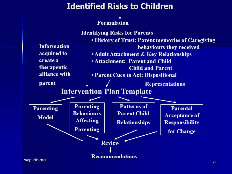 Identified Risks to Children