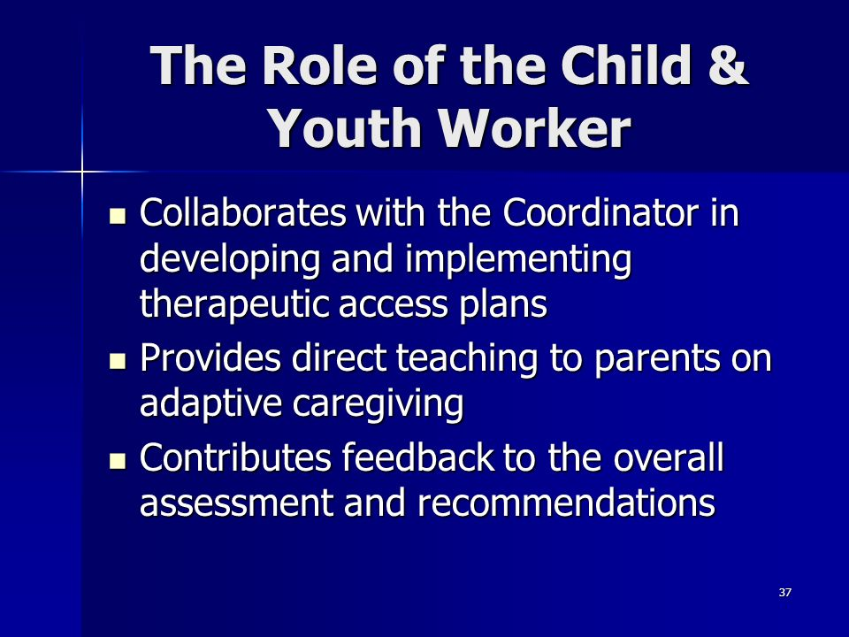 The Role of the Child & Youth Worker