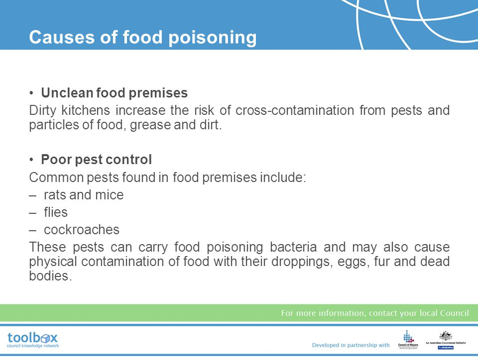 Causes of food poisoning