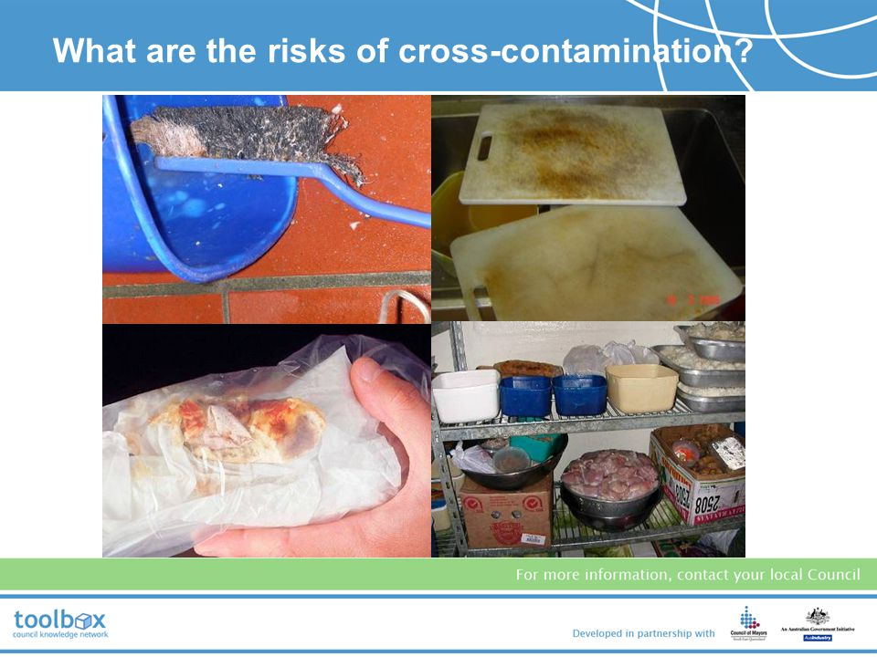 What are the risks of cross-contamination