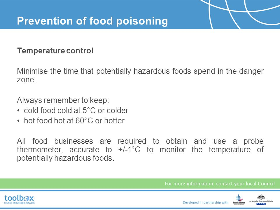 Prevention of food poisoning