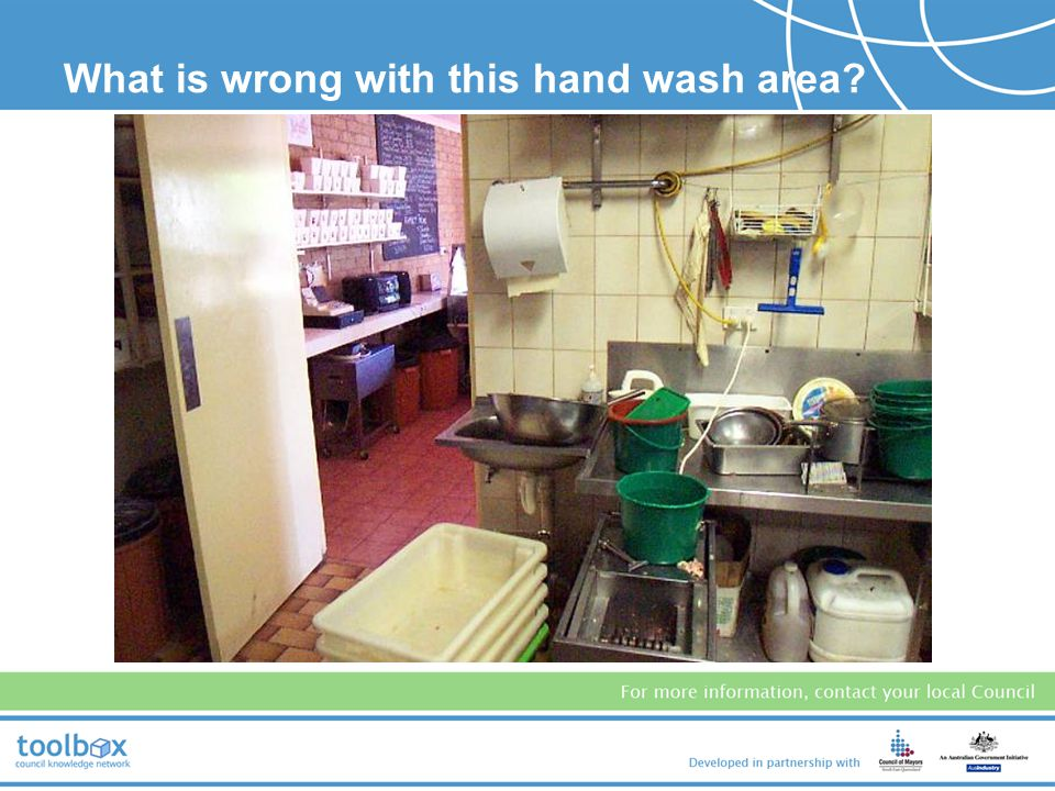 What is wrong with this hand wash area