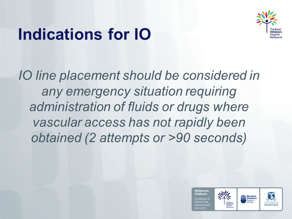 Indications for IO