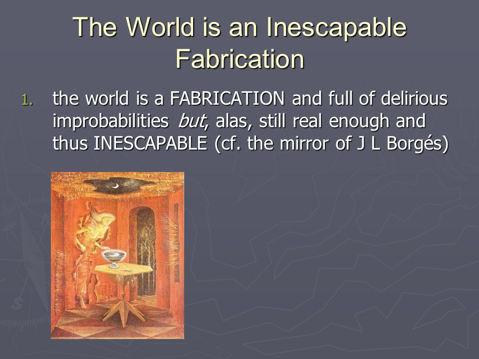 The World is an Inescapable Fabrication