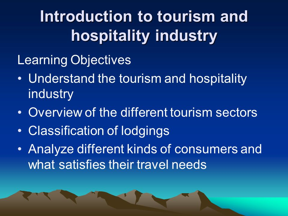 essay on travel and tourism industry Essay writing guide structure of the travel and tourism industry there are many types of attractions in the uk post-war developments of travel and tourism.