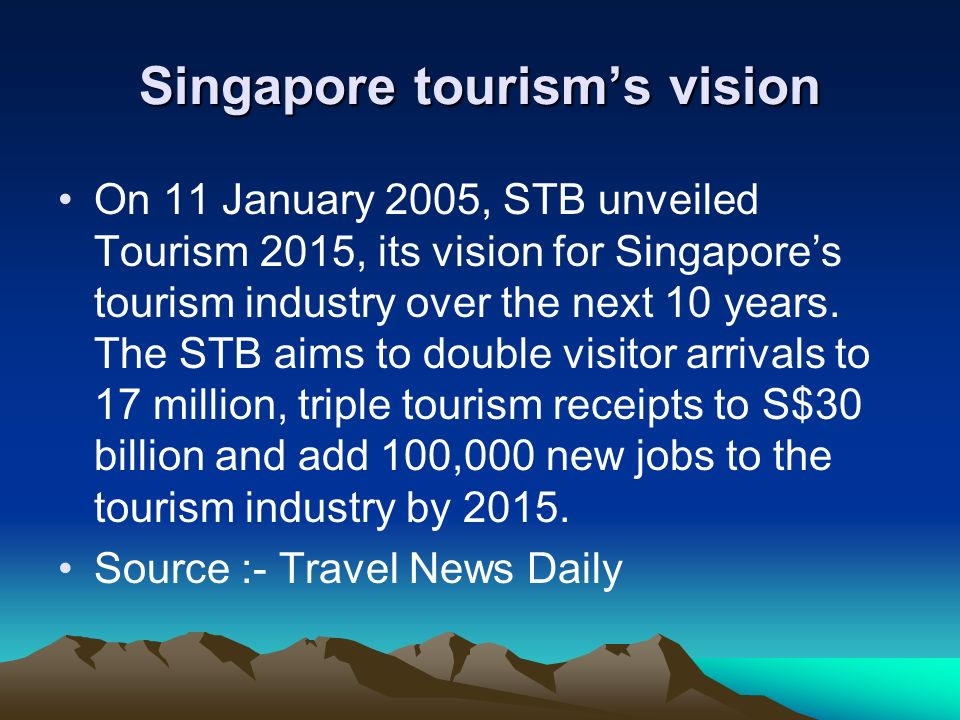 Singapore tourism's vision