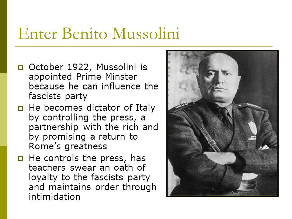 Enter Benito Mussolini