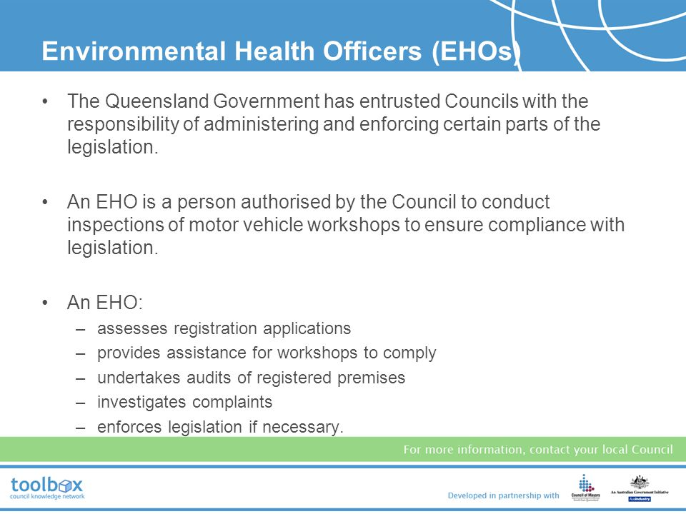 Environmental Health Officers (EHOs)