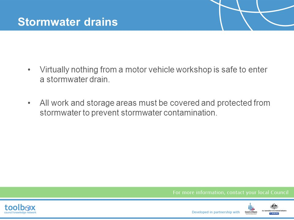 Stormwater drains STORMWATER DRAINS