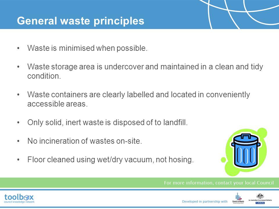 General waste principles
