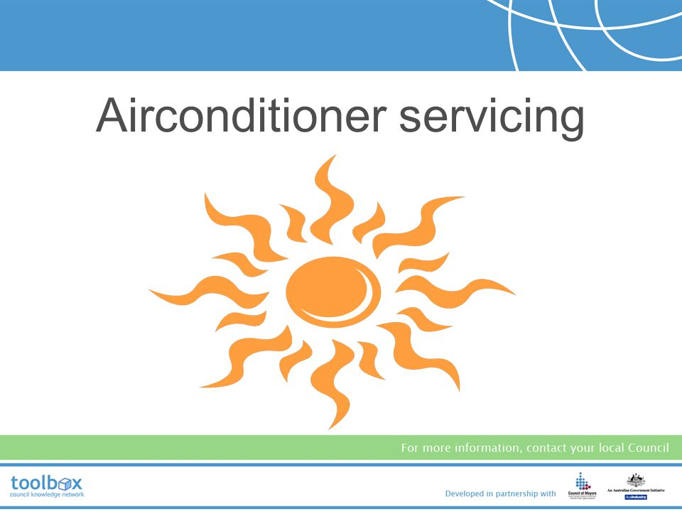 Airconditioner servicing