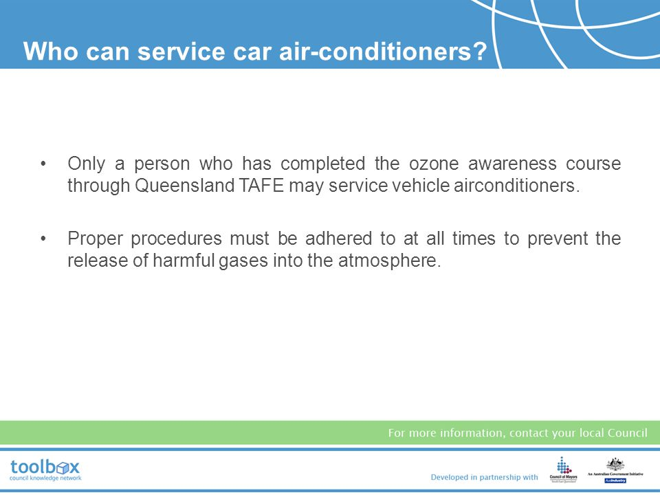 Who can service car air-conditioners