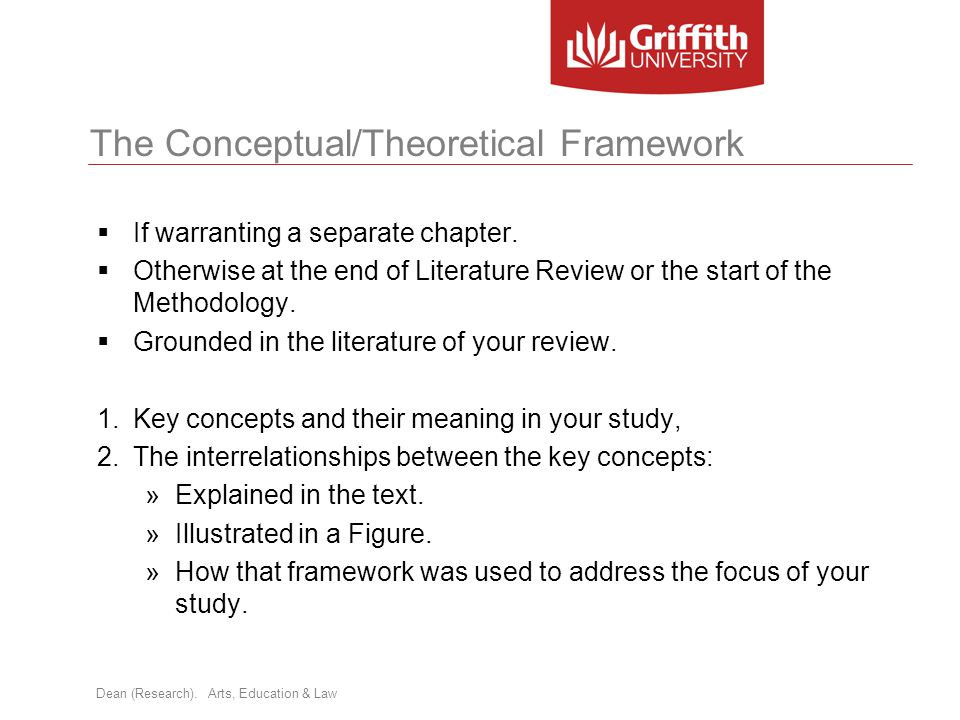 The Conceptual/Theoretical Framework