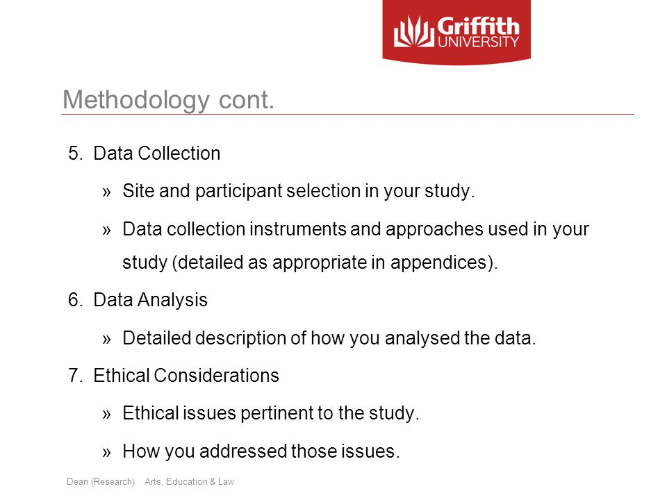 Methodology cont. Data Collection