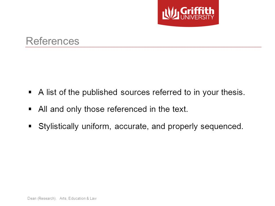 how to add references in thesis