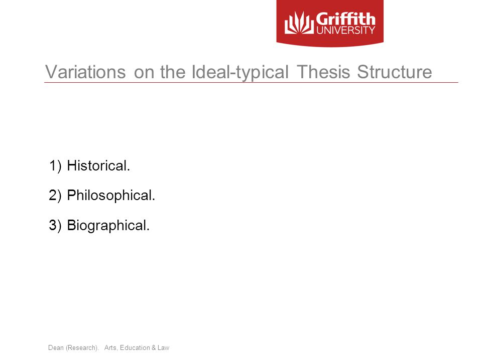 Variations on the Ideal-typical Thesis Structure