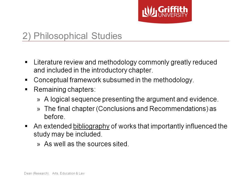 2) Philosophical Studies